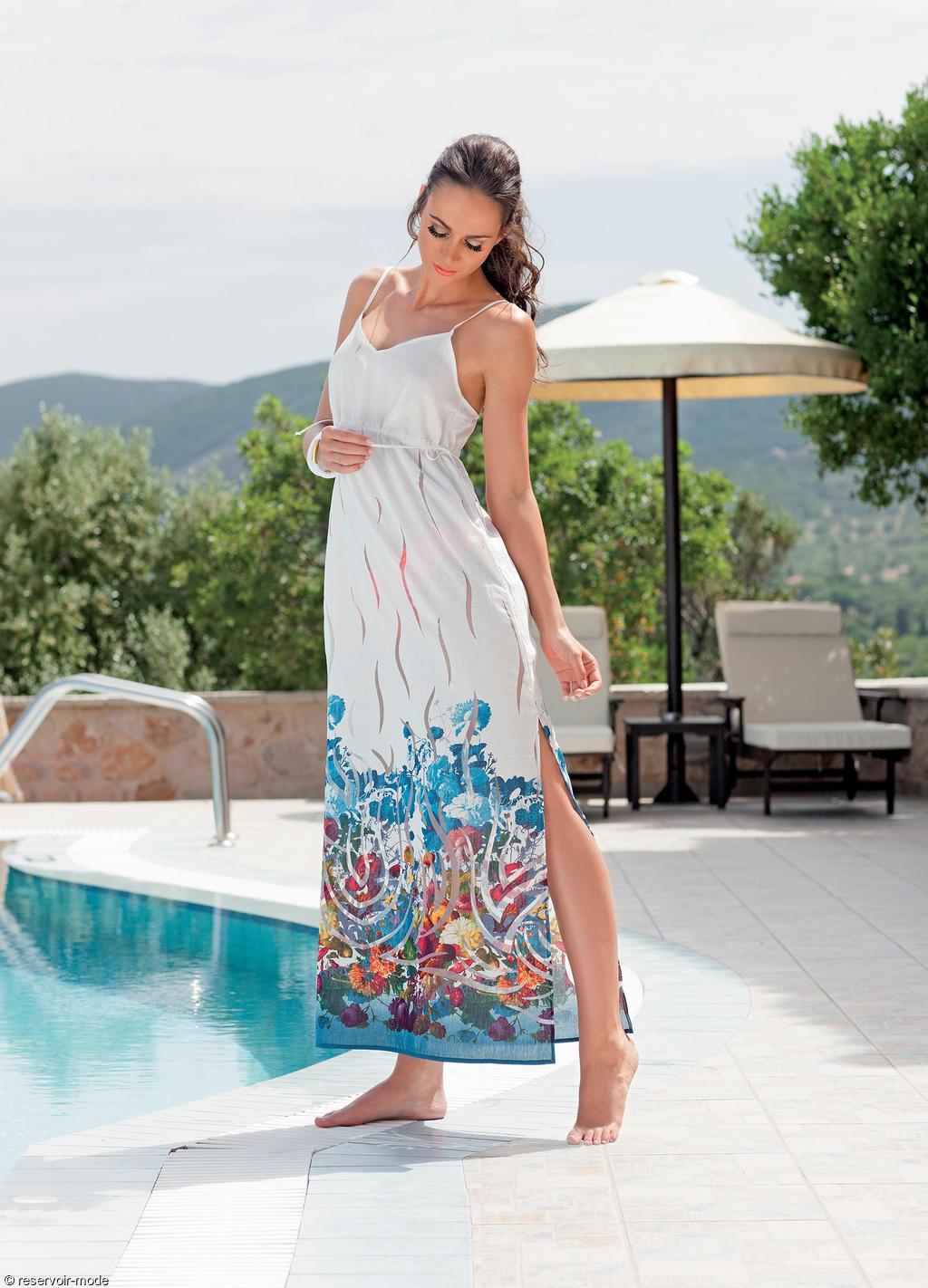 robe de plage longue barbados lisca r servoir mode. Black Bedroom Furniture Sets. Home Design Ideas