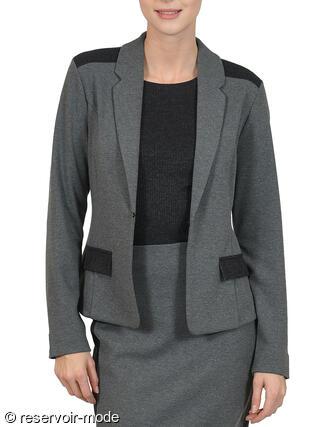 blazer gris carrie lisca - réservoir mode lingerie femme et homme