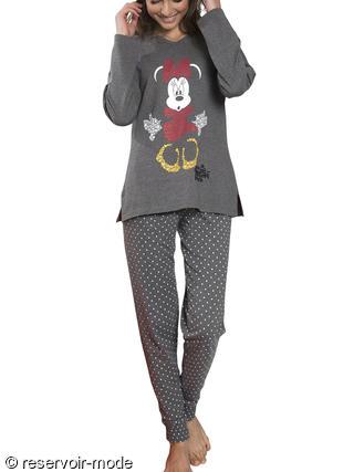 Pyjama Minnie Letters Disney - Réservoir Mode Lingerie Femme et Homme 316aef504230