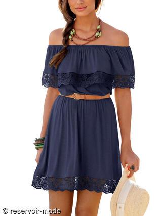 3731c11253c Robe de plage Holly Lascana marine - Réservoir Mode Lingerie Femme ...