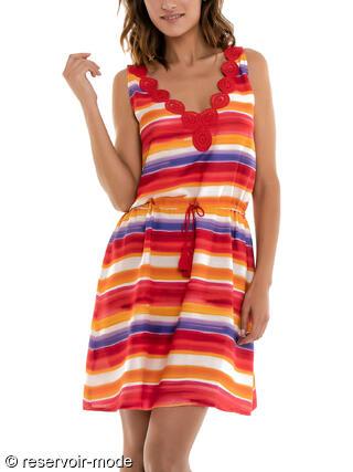 ca5219a9c46 Robe de plage Vitality Javier Golmar rouge - Réservoir Mode Lingerie ...